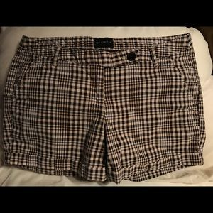 The Limited brown plaid shorts.